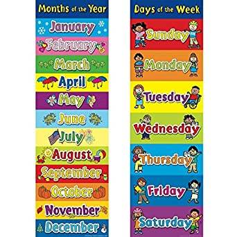 Amazon.com: Days of The Week/Months of The Year Banner Set ...