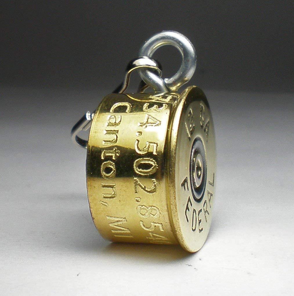 12 Gauge Federal Bullet Engraved Personalized High Brass Genuine Bullet Pet Dog Tag Pet I.D.Tag