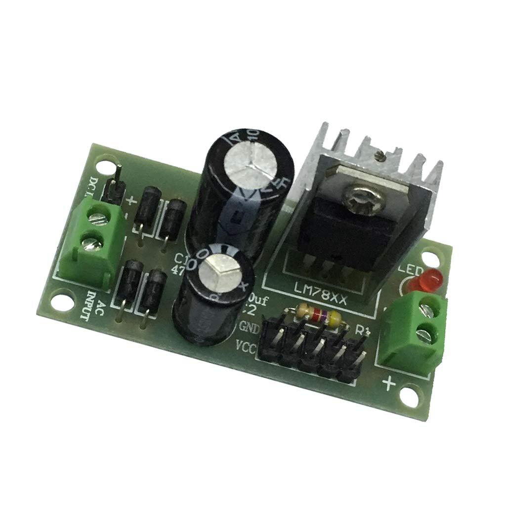 Perfeclan lm7812 m/ódulo de regulador de voltaje de tres terminales 12v para arduino