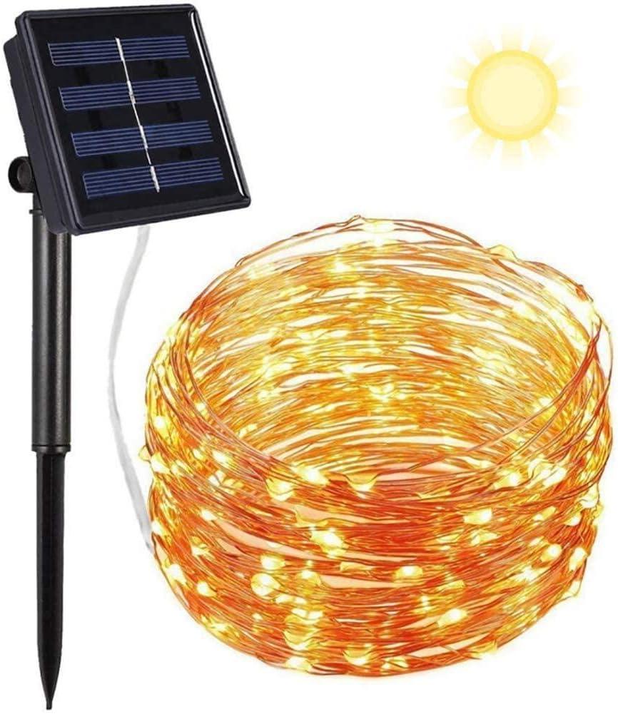 Jardines Cadena de Luces Fiestas Luces Led Solares Exteriores Jardin 10m 100 LED 8 Modos Cadena de Luces Decoracion para Navidad Terraza Festivales Guirnaldas Luces Exterior Solar Bodas Patio