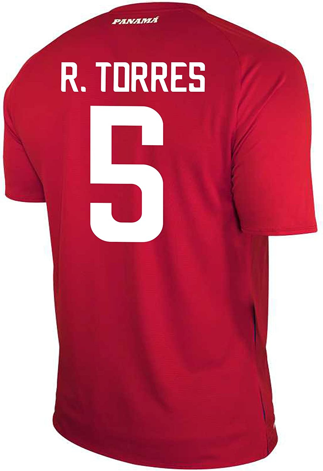 New Balance R. Torres #5 Panama Home Soccer Men's Jersey FIFA World Cup Russia 2018