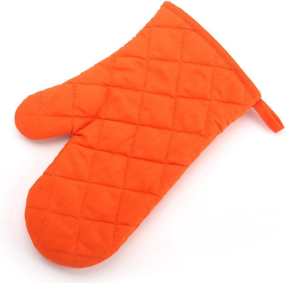 good01/Baumwolle Proof hitzebest/ändig Displayschutzfolie Kochen Topflappen Handschuh Einheitsgr/ö/ße Orange