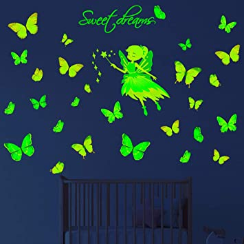 Home Decoration Luminous Wall Stickers Fluorescent Decals Kids Rooms Decor