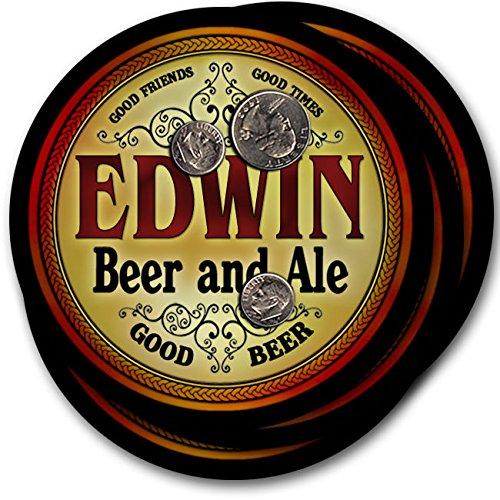 エドウィンビール& Ale – 4パックドリンクコースター   B003QXKU2Q