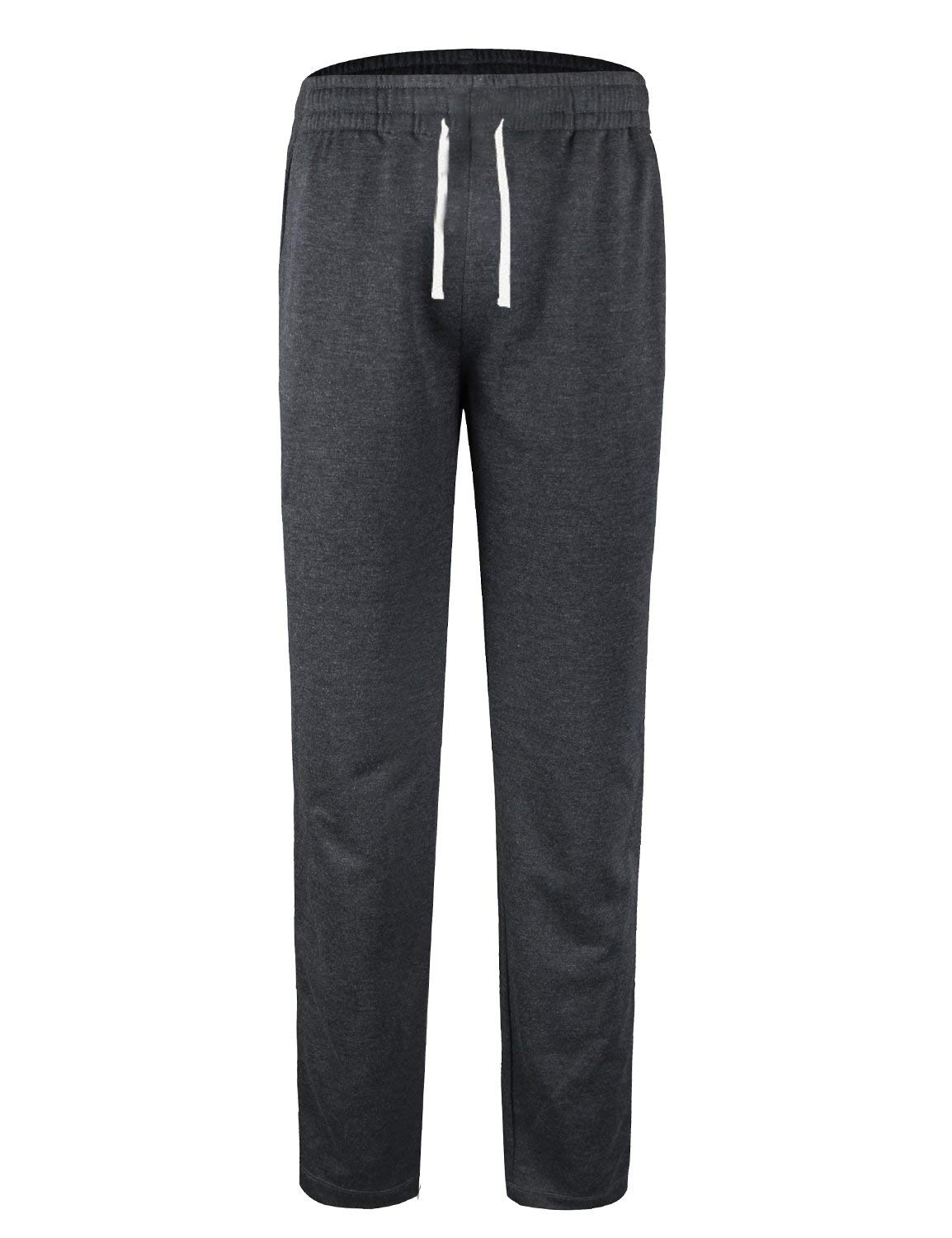 BALEAF Youth Boys' Athletic Pants Tapered Leg Running Sweatpants Dark Gray Size XS by BALEAF