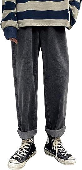 Alppvワイドパンツ メンズ ジーンズ 春 夏 メンズ デニムパンツ 9分丈 デニム ワイド ストレート 無地 ロングパンツ ファッション カジュアル ジーンズ 通勤 通学 ズボン