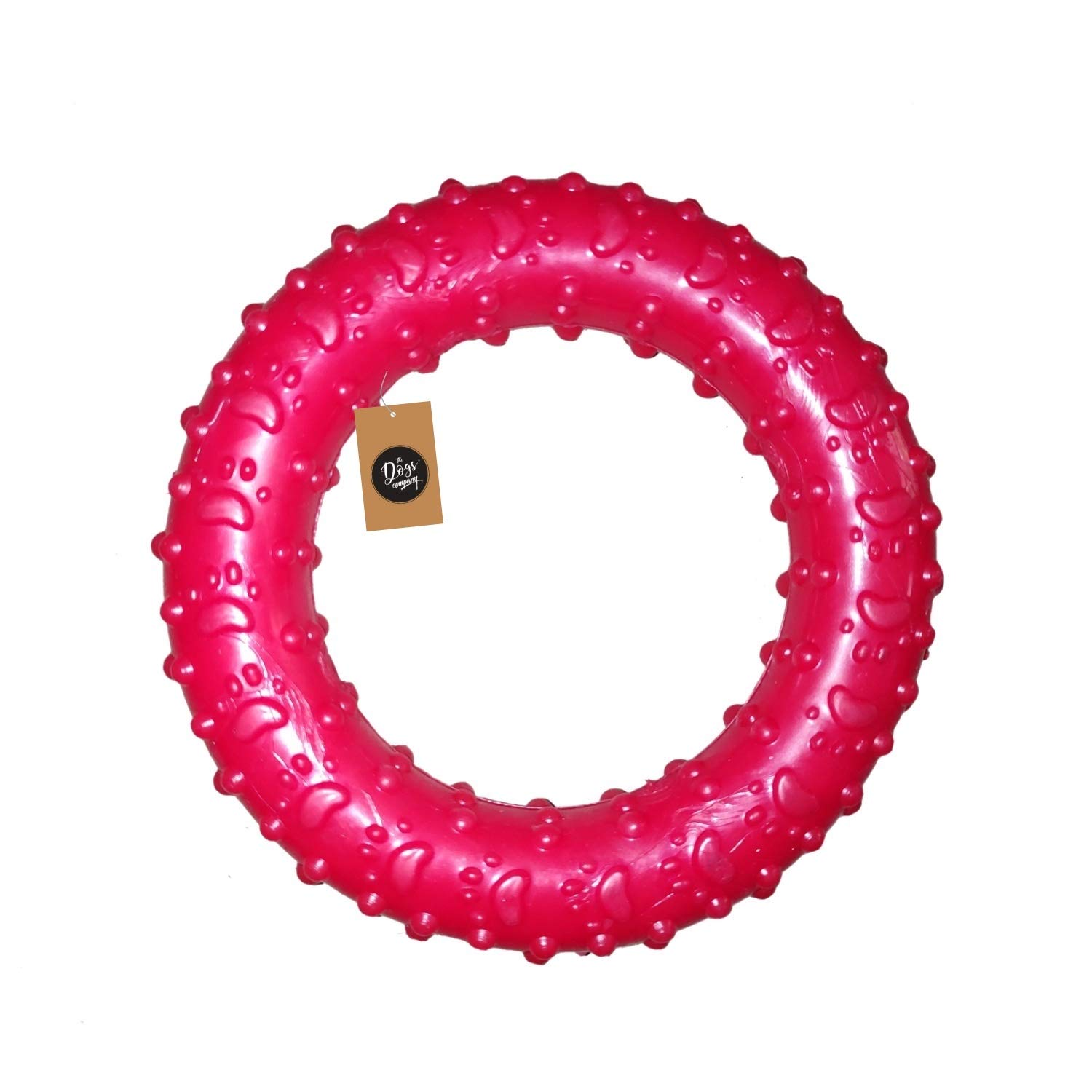 Rubber Chew Ring for Puppy Teething, Dog Toy for Small and Medium Dogs