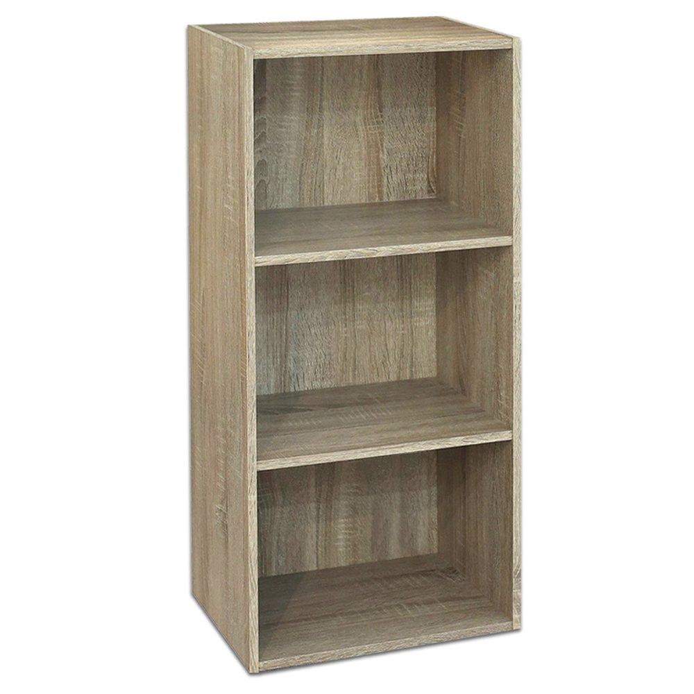 Divina Home Libreria a 3 ripiani canadian scaffale in legno arredamento DH52196