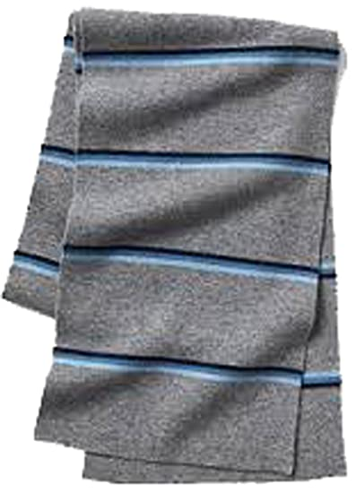 10f4f8c3 Image Unavailable. Image not available for. Color: Gap Mens Gray Blue Stripe  Merino Wool Blend Ski Scarf
