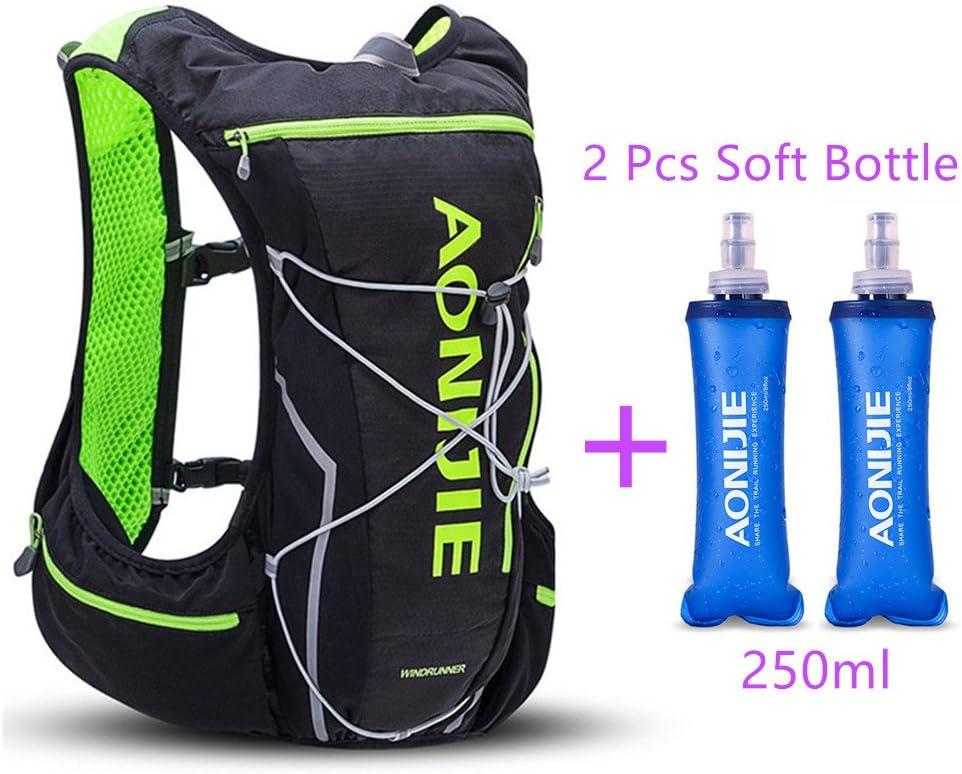 Hydration Bladder Vest Backpack Sports Running Camping Hiking Water Bottle Bag