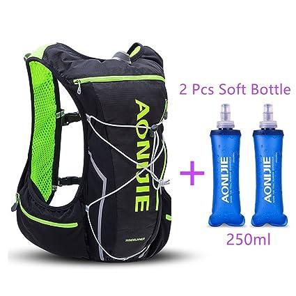 AONIJIE Trail Marathon Running Vest Pack 10L Sport Bag Hiking Camping Hydration Backpack Water Bottle Holder
