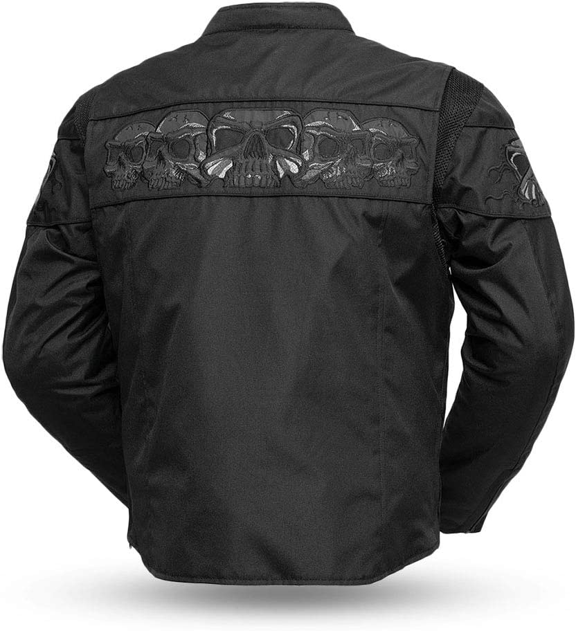 - Gambler First MFG Co Black, X-Large Mens Leather Motorcycle Vest