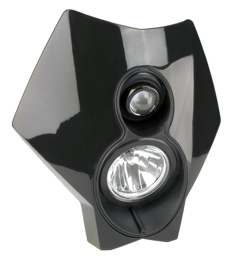 Trail Tech (37T2-70) X2 Torch Black 70W Dual Sport Halogen Universal DOT Motorcycle Headlight