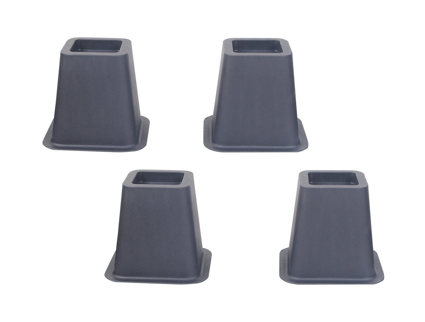 EASYGOING 4-pack 5.25 Inch Height Bed Risers, Furniture Riser Bed Riser and Bed Lifts,Helps you storage under the bed