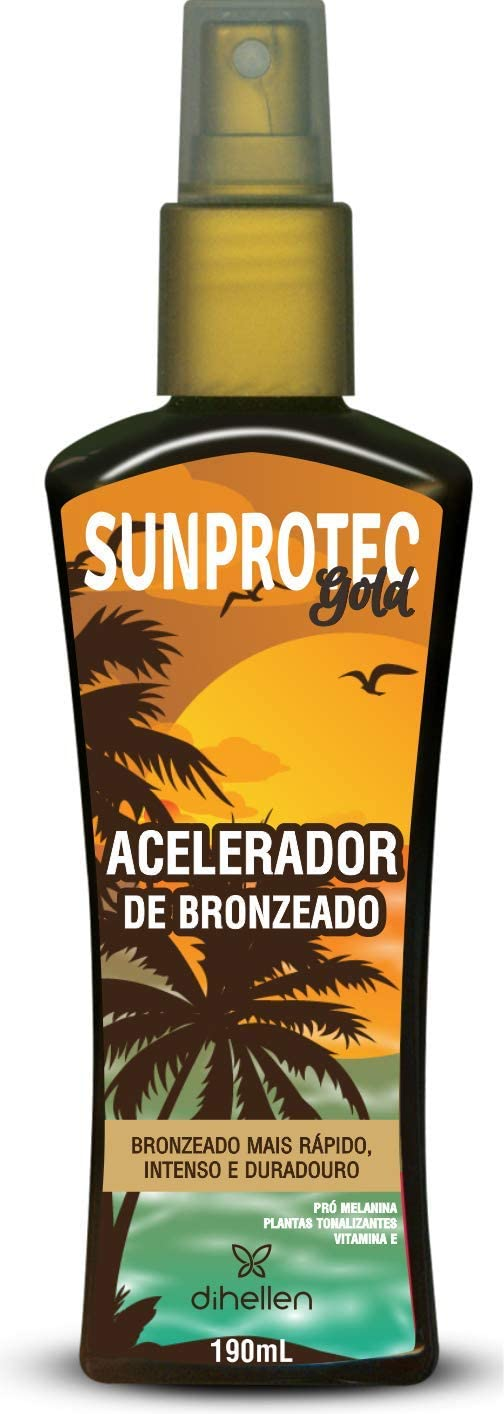 Acelerador de Bronzeado Sunprotec Gold, Di Hellen Cosméticos