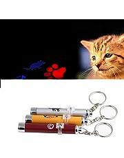 Spielzeug für Katzen oder Hunde, LED-Pointer, Rot mit Motiv Katzenpfote