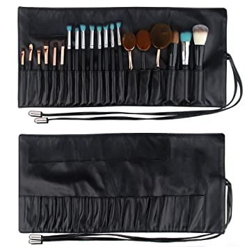 Amazon.com   MONSTINA Makeup Bag Cosmetic Bag Organizer Brushes Holder Cosmetics  Brushes Leather Case (Black)   Beauty f0c88682af6d8