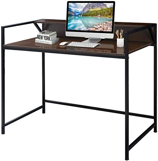 Modern Home Office Writing Workstation Computer Desk Student Writing Table NEW
