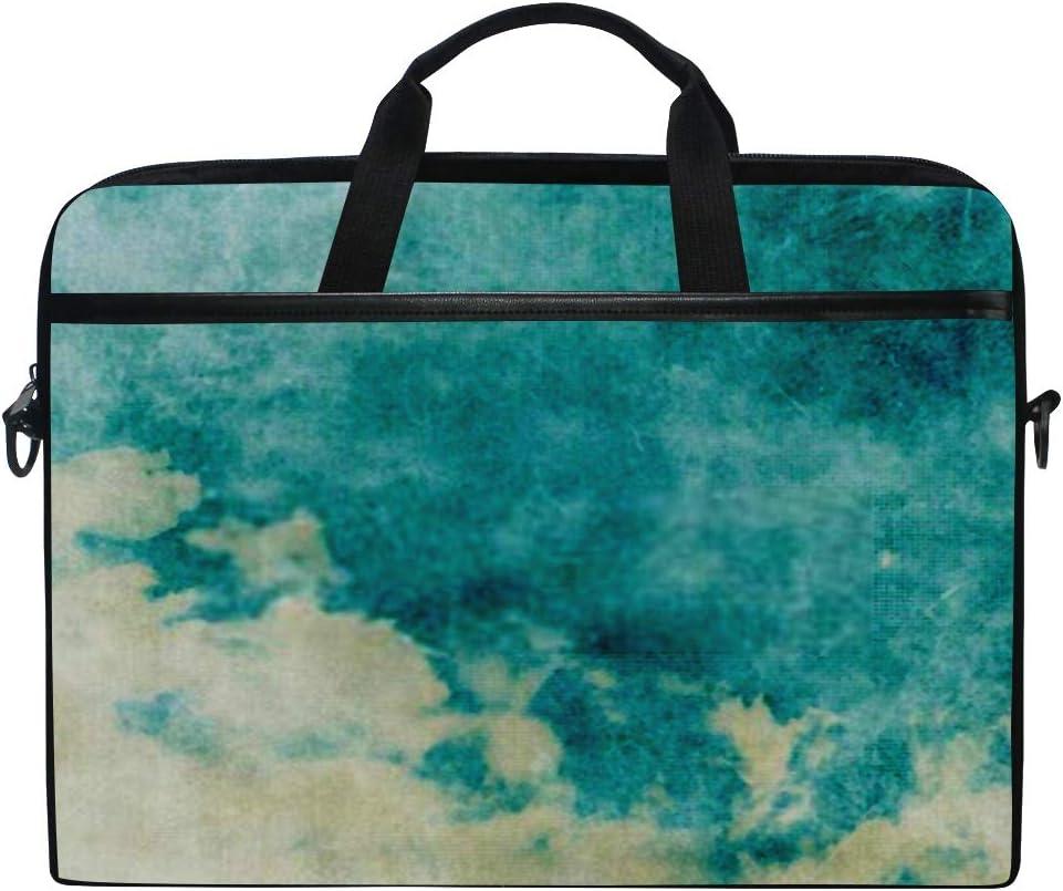 Briefcase Messenger Shoulder Bag for Men Women College Students Business People Laptop Bag Water Color Like Cloud On Old 15-15.4 Inch Laptop Case