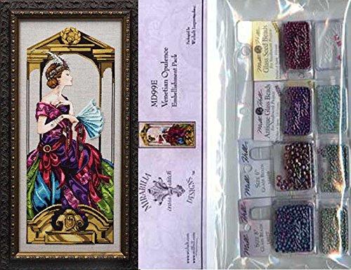 Cross Stitch Chart with Embellishment Pack ~ VENETIAN OPULENCE