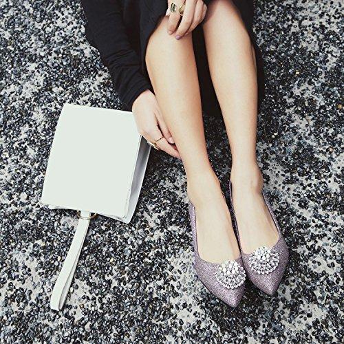 Femmes Talons Hauts Femmes Shallow Sandales Chaussures à Talons Hauts Chaussures D'été Chaussure De Bal Slip-On Sandales Pointu Toe Purple mXM1g