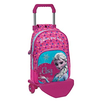 Disney 22124M1 Frozen Elsa Mochila Escolar con Carro: Amazon.es: Equipaje