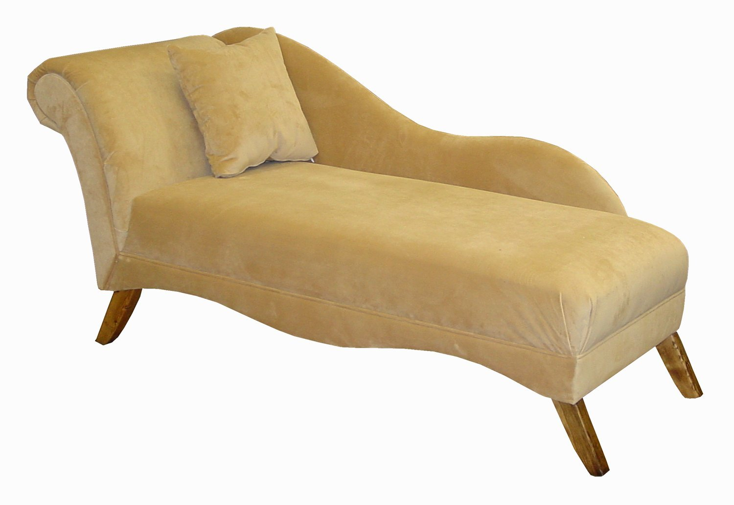 Amazon.com: Isabella Single Arm Chaise Lounge By Skyline Furniture In White  Velvet: Kitchen U0026 Dining
