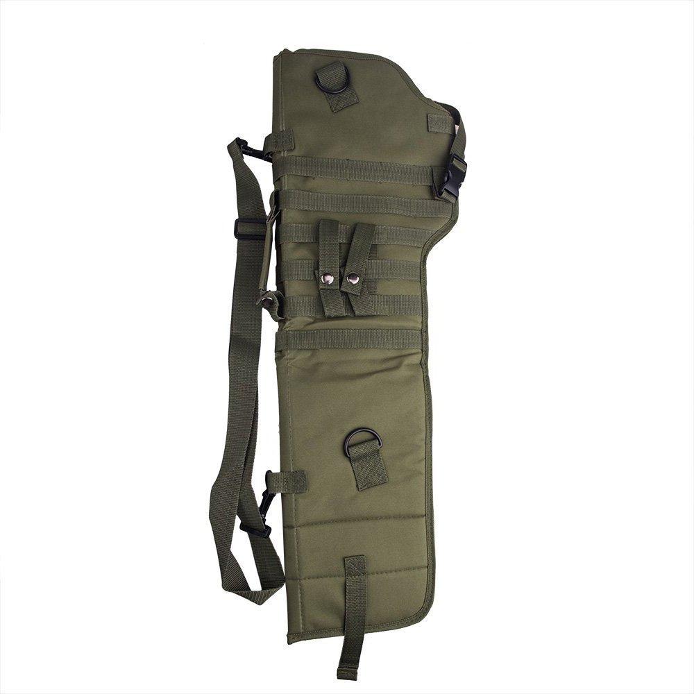 ZKer 29'' Tactical Shotgun Shoulder Bag Rifle Sling Backpack Pistol Shotgun Scabbard Holster Molle Rifle Sling Padded Case Bag Gun Storage Pouch Protective Shotgun Case for Outdoor Hunting Amy Green