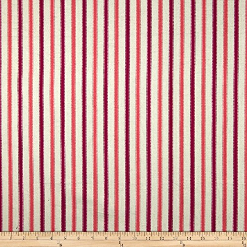 Home Accents Tangiers Stripe Coral Fabric by the -