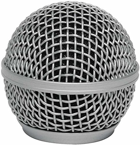 (Stagg SPA-M58H Mesh Grille Cover for Spherical Head Microphone - Chrome)