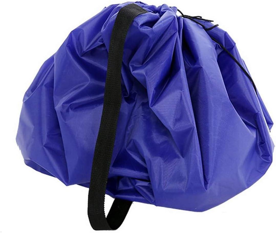 90cm//35inch, blu Portable Toy Storage Bag,Kids Toys organizer e altri giocattoli per bambini Fast sacchetto di stoccaggio giocattoli borse spiaggia zerbino tappeto da gioco