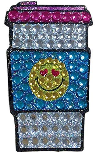 iscream Sparkly Rhinestone X-Pressive! Love U Heart Eyes Emoji Latte 2