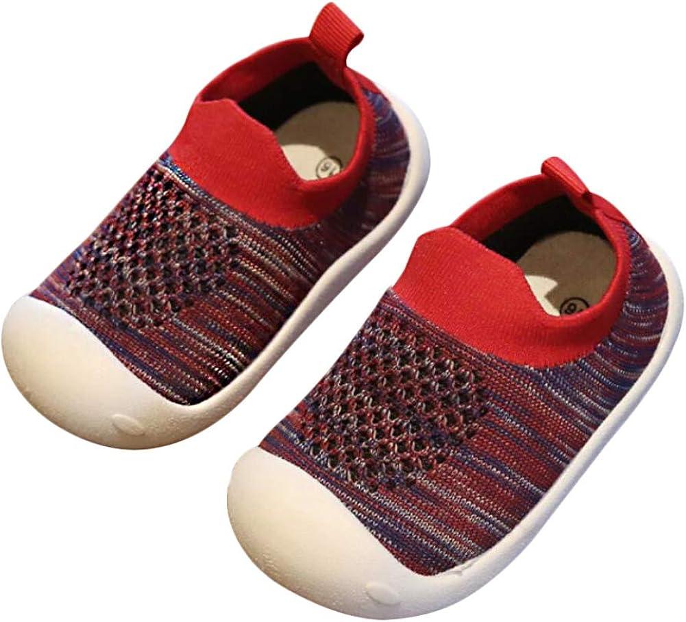 Style Sport D/écontract/é L/ég/ér Respiran DEBAIJIA B/éb/é Chaussures Premier Pas pour Enfants Gar/çons Filles de 1-4 Ans Chaussons en Toile//Maille de Marche Mat/ériau TPR Semelle Souple Antid/érapant