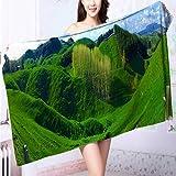 AmaPark Microfiber Towels Greener Pastures Multipurpose, Quick Drying L39.4 x W19.7 INCH