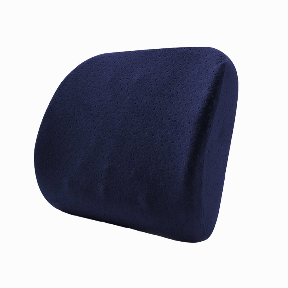 Waist Rest Massage Lumbar Pillow Office Seat Cushions Lumbar Support Waist Pillow Pregnant Women Lumbar Backrest Home Office School Car Waist pillow Sofa Support Backrest (Blue)