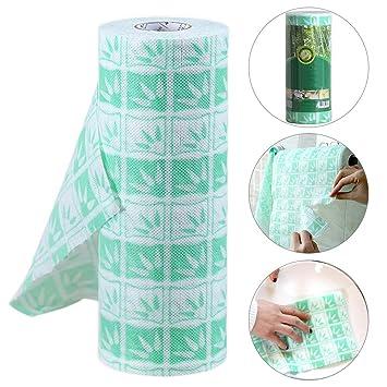 Fiveschoice - Toalla de papel multiusos de bambú para cocina, diseño de hojas: Amazon.es: Hogar