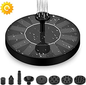 Joyday Solar Fountain, Solar Water Pump for Bird Bath, Free Standing Outdoor Submersible Fountain Panel Kit for Pond, Pool, Patio, Garden