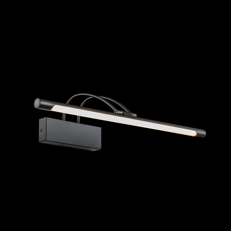 A braccio 3000K 800lm 12W bulb incl per specchio Montatura in metallo color nero bagno Luminosa Lunga ufficio Moderna Lampada da parete a LED arte quadri