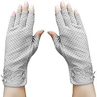Guantes de verano de algodón, guantes de ciclismo, guantes cortos, antideslizantes, protección UV, finos, protección…