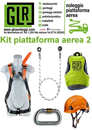 Kit para trabajos de quota Arnés Anticaída cordón mosquetones ...
