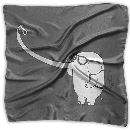 Xukmefat Bufanda Cuadrada Con Estampado De Elefant...