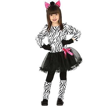 04e1790d497f5 Amakando Déguisement d'enfant zèbre Costume de zèbre pour Enfants L 140/152  cm