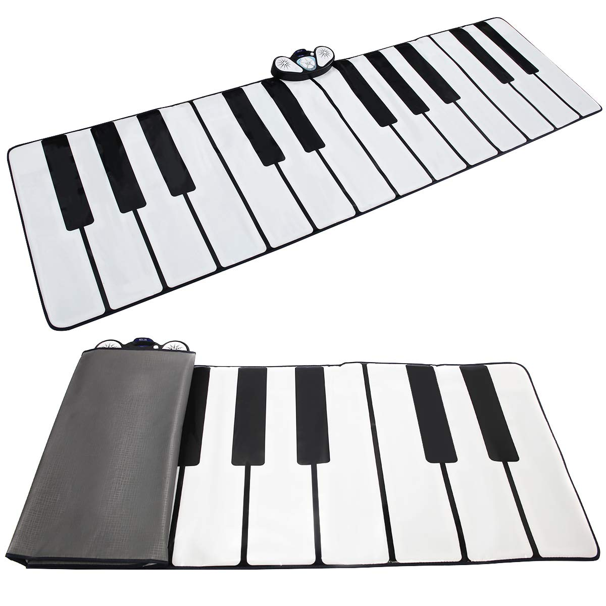 Costzon Giant Keyboard Playmat, 24 Keys Piano Play Mat, Foldable Activity Mat w/ 9 Selectable Musical Instruments, Play - Record - Playback - Demo - Tone Conversion Modes, Support MP3, Phone Play by Costzon (Image #4)