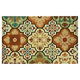 Cheap Bacova Guild 30803E Imperial Indoor Outdoor Accent Rug, 120″ x 90″, Moroccan Tile Suns