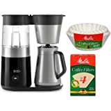OXO On Barista Brain 9 Cup Coffee Maker (with 100-Count Number 4 Natural Brown Super Premium Coffee Filters and 100-Count Basket Coffee Filters)