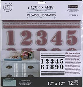 Prima Marketing Re-Design Decor Clear Cling Stamps 12