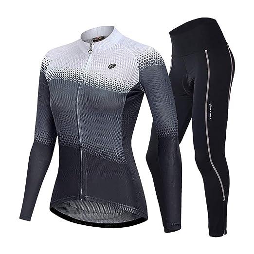 Fengbingl-Bicycle Camisetas de Ciclismo Jersey de Mujer Traje de ...