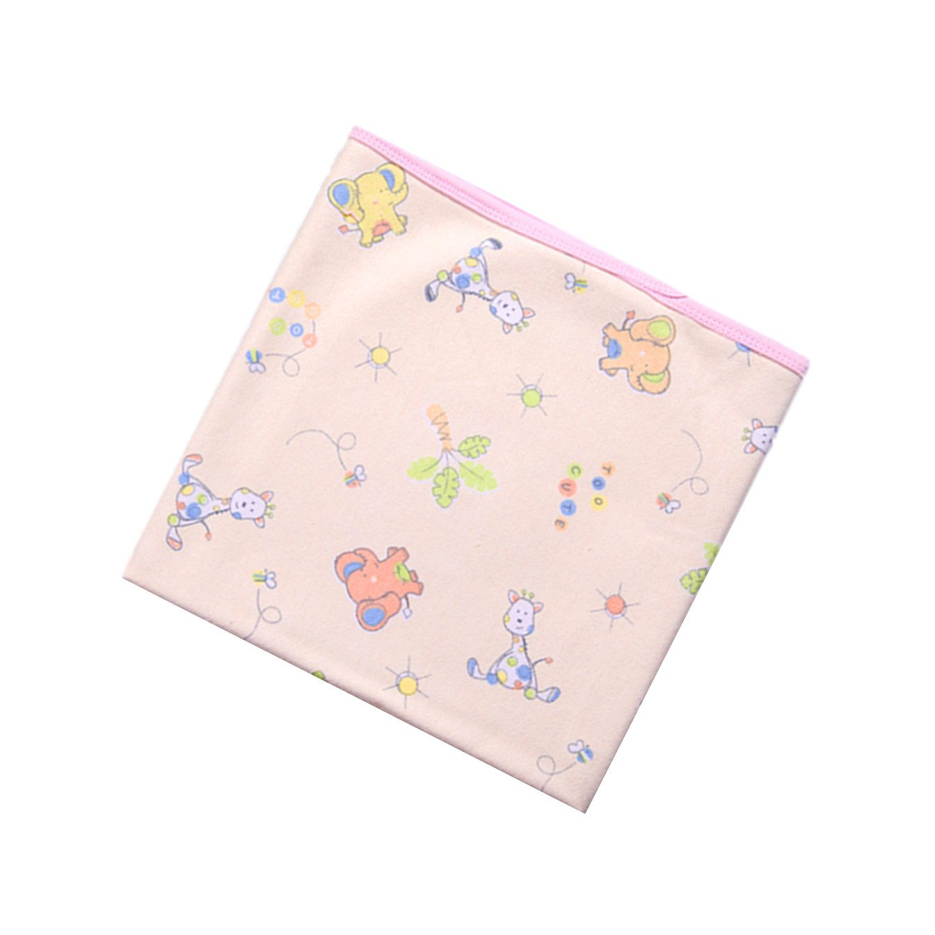 Baby Kid Mattress Cotton Bamboo Fiber Breathable Waterproof Changing Pad Diapering Sheet Protector Menstrual Pads Elephant and Giraffe-Pink, L 27x39inch