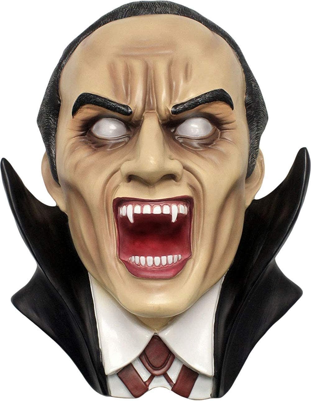 DWK – Dracul – Immortal Blood-Thirsty Vampire Wall Mounted Hanging Bust Sculpture Gothic Horror Classic Spooky Halloween Party Haunted House Home D cor Accent, 14-inch