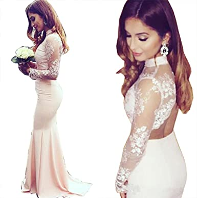 High Neck Mermaid Prom Dress